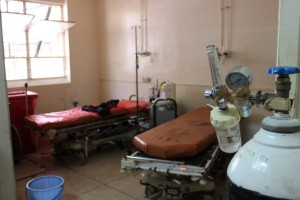 Conditions in a Ugandan hospital.
